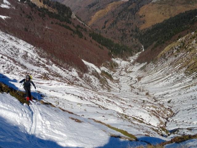 Subiendo el valle de Arnousse