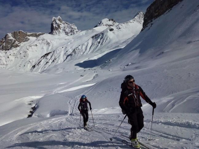 De vuelta hacia el Col de Astún