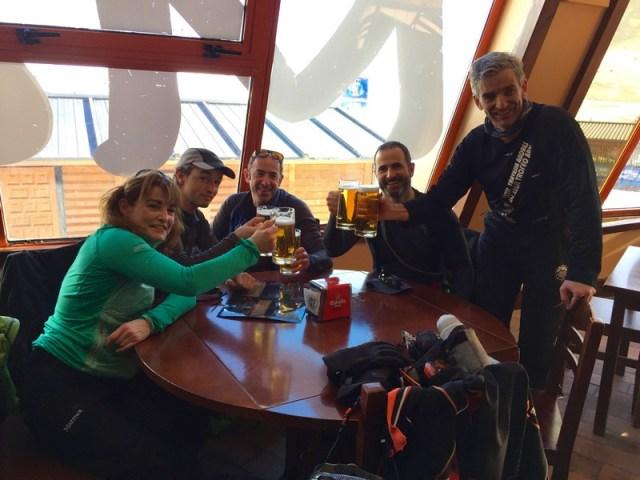 Para rematar la jornada, una cervecica en al Moleta