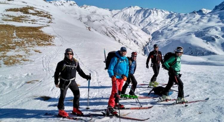 Foto de grupo en el Col de Arnousse