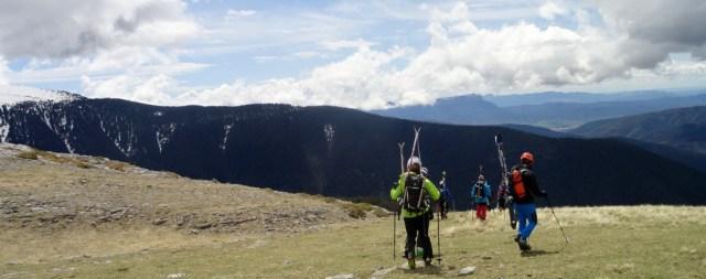 Primeras praderas, tras quitar los esquís
