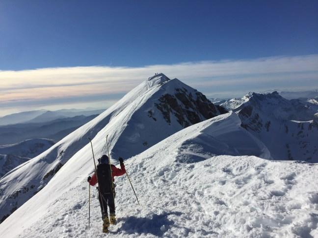 Ultimos metros hasta la cima del Bisaurín