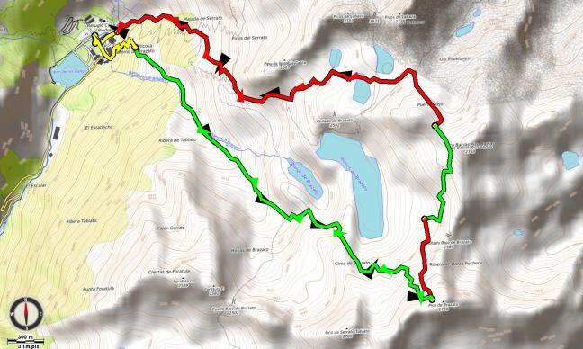 Mapa salida Brazato - Bacíoas