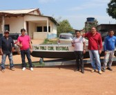 Prefeito Raimundo Batista Santiago entregou Voadeira com Motor para aldeia Restinga
