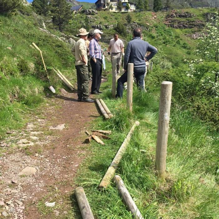 Obras de acondicionamiento del Camino de Santiago FOTO Jaca Jacobea