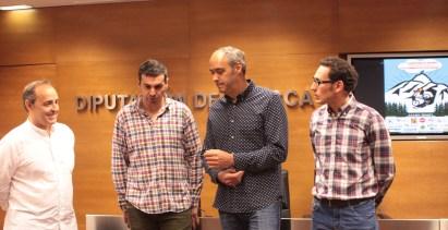 Luis Marquina, Fernando Sánchez, Luis Terrén y Antonio Serrano, durante la presentación.