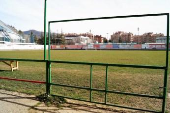Campo de fútbol Oroel. (Foto: Rebeca Ruiz)