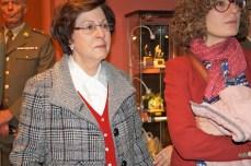 Magadalena García, viuda del coronel Topete. Detalle de la maqueta. (FOTO: Rebeca Ruiz)
