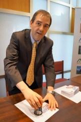 Carmelo Hernández, director de Correos de Jaca. (FOTO: Rebeca Ruiz)