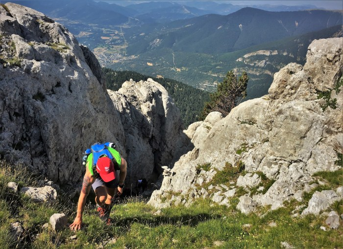 Ascensión vía Russell al Pico Collarada. Foto Mayayo