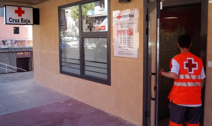 Cruz Roja abre canales de donación para los afectados por el volcán de La Palma. Instalaciones de Cruz Roja Jaca, en una imagen de archivo. (FOTO: Rebeca Ruiz)