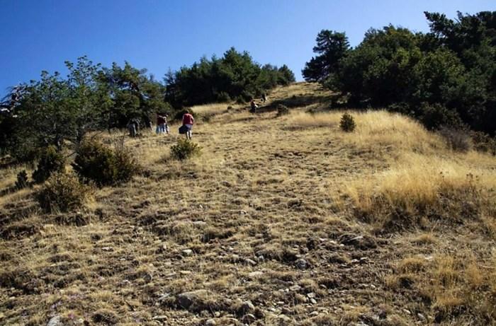SANTA CRUZ DE LA SERÓS. Imagen de archivo de la investigación sobre el guerrillero Alfonso Bernardo Subías (FOTO: ARICO)