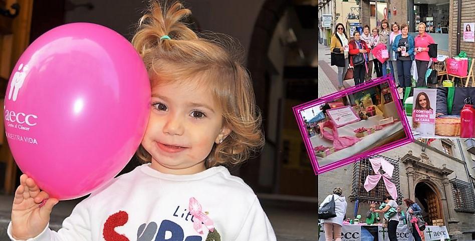 Jaca y Sabiñánigo llenan sus calles de rosa contra el cáncer de mama
