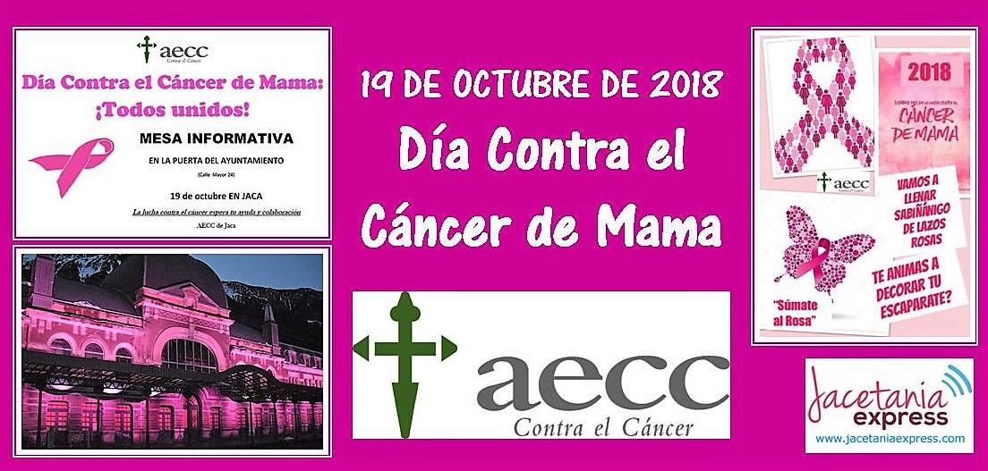Jaca, Sabiñánigo y Canfranc se vestirán de color rosa contra el cáncer de mama