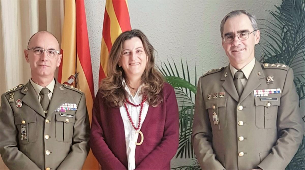 Primera visita oficial a Huesca del nuevo Delegado de Defensa