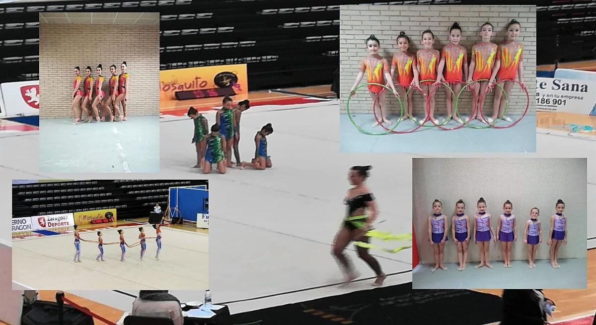 Buen papel de las jacetanas en el Torneo de Aragón de Promoción de Gimnasia Rítmica