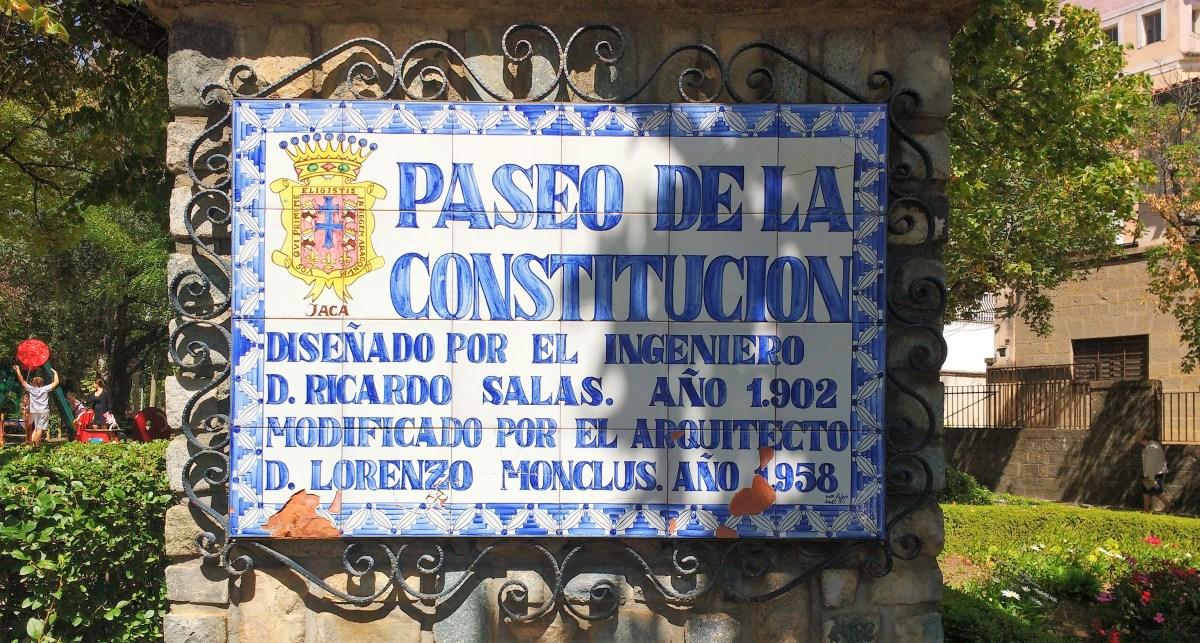 El Paseo de Jaca, en la muestra 'Constituciones (1812-1978)'