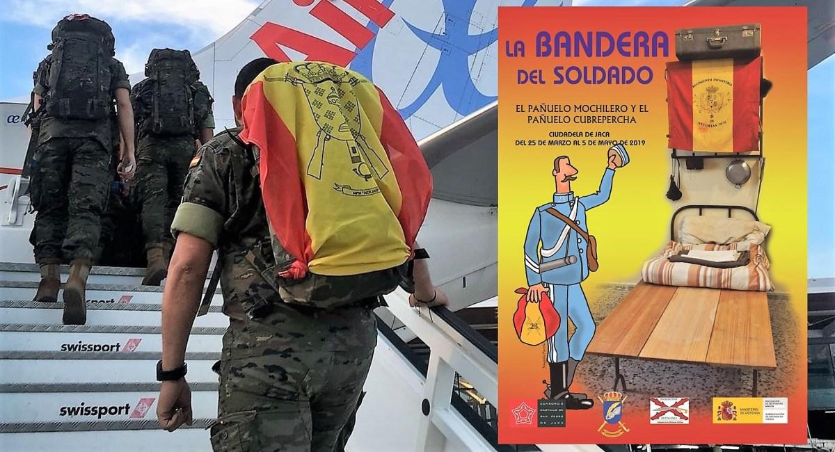 La Bandera del Soldado, en la Ciudadela de Jaca