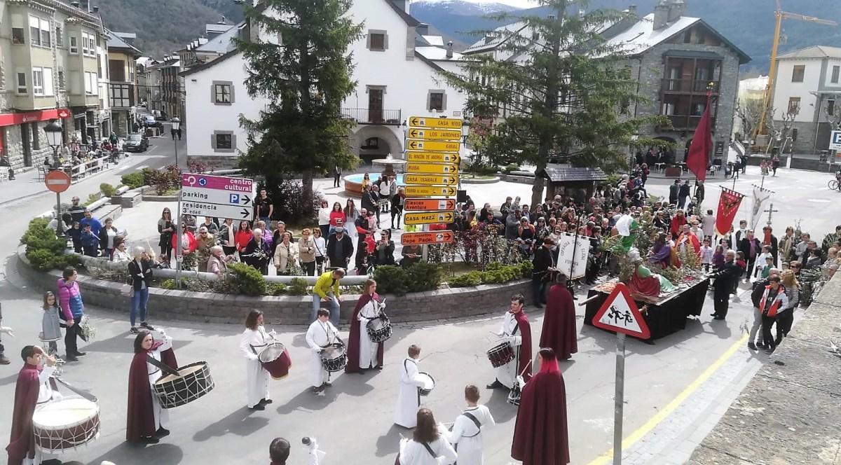 Biescas, inmersa ya en sus actos tradicionales de Semana Santa