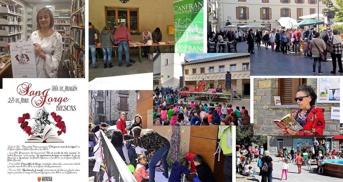 Jacetania y Alto Gállego se preparan para celebrar San Jorge y el Día del Libro