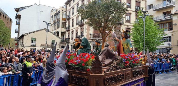 Imagen de archivo, de la Semana Santa de Jaca de 2019. (FOTO: Rebeca Ruiz)