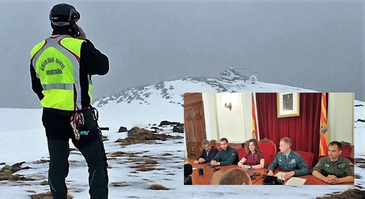 La Guardia Civil de Montaña auxilió durante la temporada invernal a 125 personas en Huesca