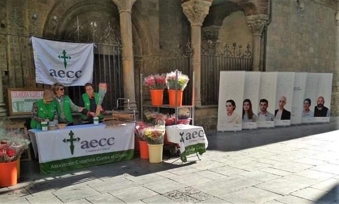 Jornada de la venta de flores en Jaca, en 2019. (FOTO: Rebeca Ruiz)