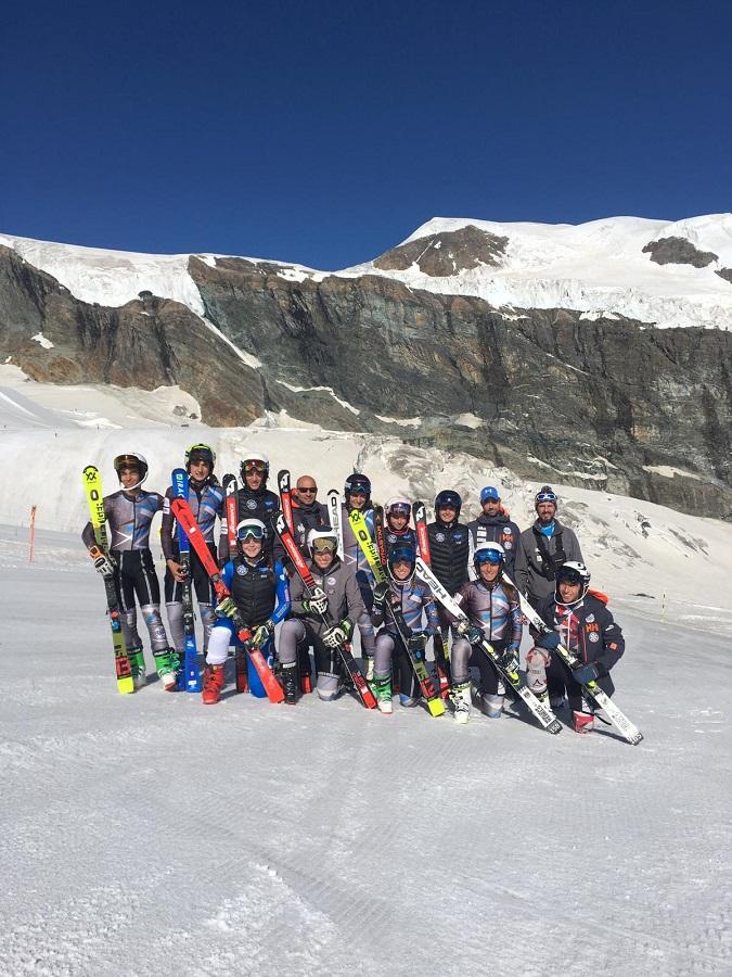 CONCENTRACIÓN. El CETDI Aragón Alpino, en Saas-Fee.