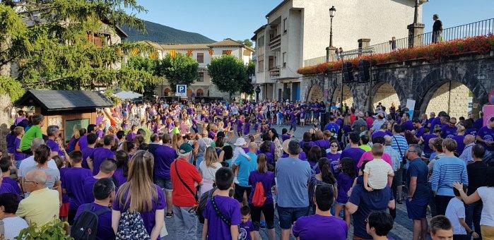 LUCHA CONTRA EL CÁNCER. Marcha de Biescas es Vida 2019. (FOTO: Rebeca Ruiz)