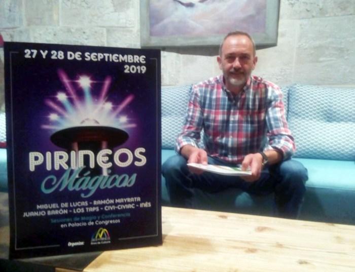PIRINEOS MÁGICOS. Javier Acín, concejal de Cultura. FOTO: Pirineos Mágicos.