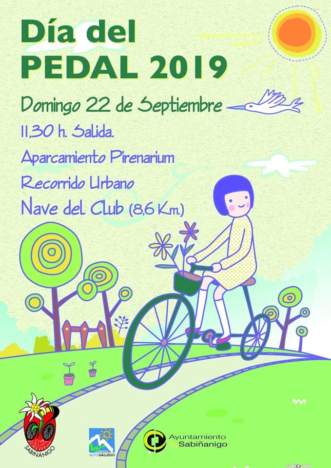 DÍA DEL PEDAL. Programa del Día del Pedal en Sabiñánigo.