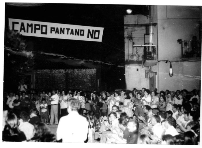 ALMANAQUE 2020. Oposición al pantano de Campo. Archivo de Andalán.