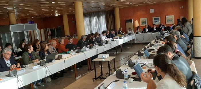 COMITÉ DE PROGRAMACIÓN. Un momento de la reunión en el Palacio de Congresos (FOTO: Gobierno de Aragón)
