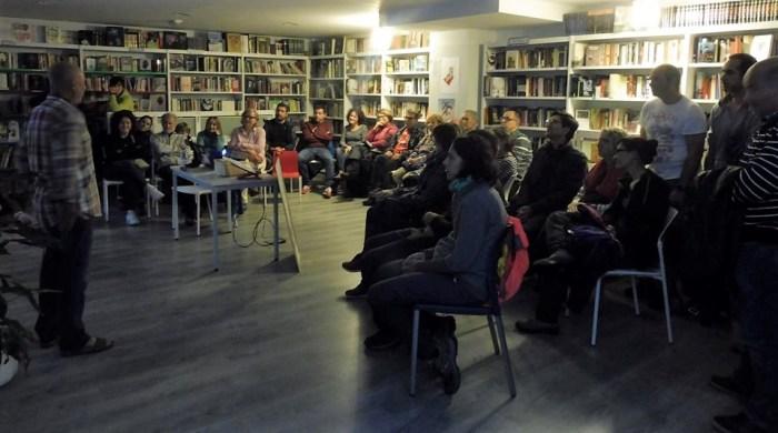 CHEMA TAPIA. Un momento de la presentación en Villanúa.