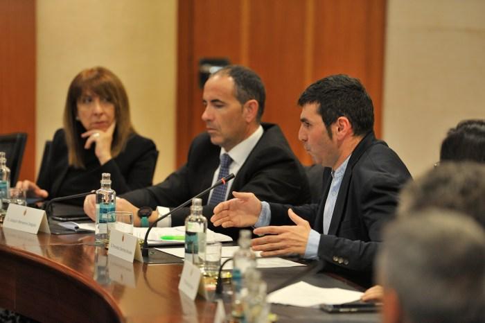 PRESUPUESTO. El diputado de Hacienda, Fernando Sánchez, durante su intervención. (FOTO: DPH)