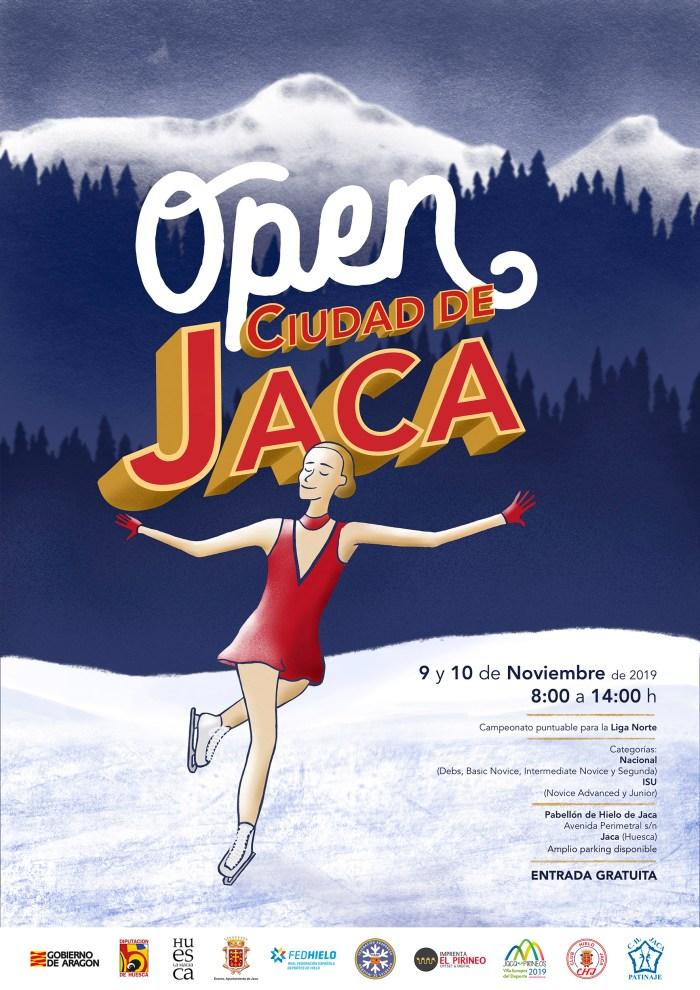CARTEL DEL OPEN CIUDAD DE JACA. Autor: Adrián Betrán.