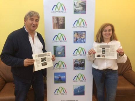 APRÈS-SKI. José Ángel Hierro (director de la Oficina de Fomento) y la concejala Olvido Moratinos muestran la nueva programación.