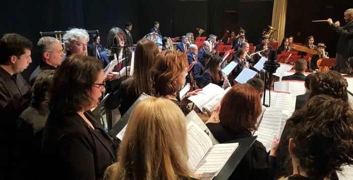 BANDA DE MÚSICA SANTA OROSIA. En la imagen, la Banda de Música durante el último Concierto de Navidad de Jaca. (FOTO: Rebeca Ruiz)