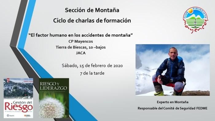 CHARLA DE ALBERTO AYORA. El 15 de febrero, en la sede de Mayencos.