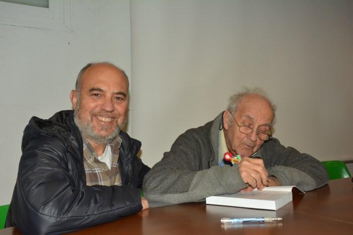 LA LARGA EXCURSIÓN. Chema Tapia, junto a Agustín Faus. (FOTO: Jara Lacadena)
