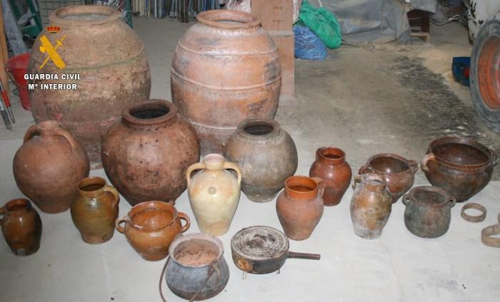 DELITOS. Parte de los objetos recuperados.