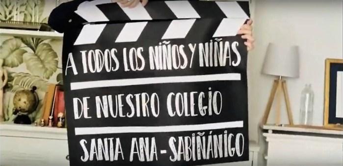 MENSAJE CONTRA EL CORONAVIRUS. Los profesones del colegio Santa Ana han grabado un entrañable vídeo dirigido a sus alumnos.