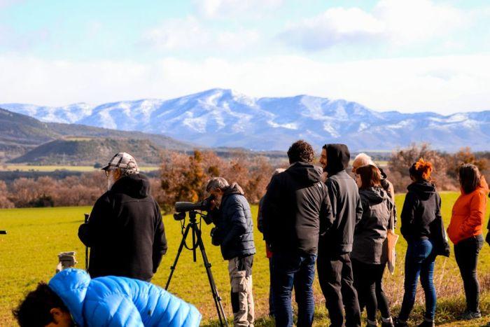 Observacion en la Fiesta de las Grullas del Pirineo (© Cima Norte)