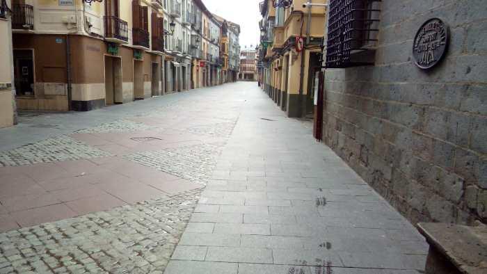 CORONAVIRUS. Calle Mayor de Jaca.