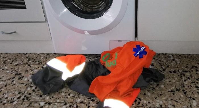 TRANSPORTE SANITARIO. Hasta ahora, los trabajadores debían lavar su ropa de trabajo en casa.