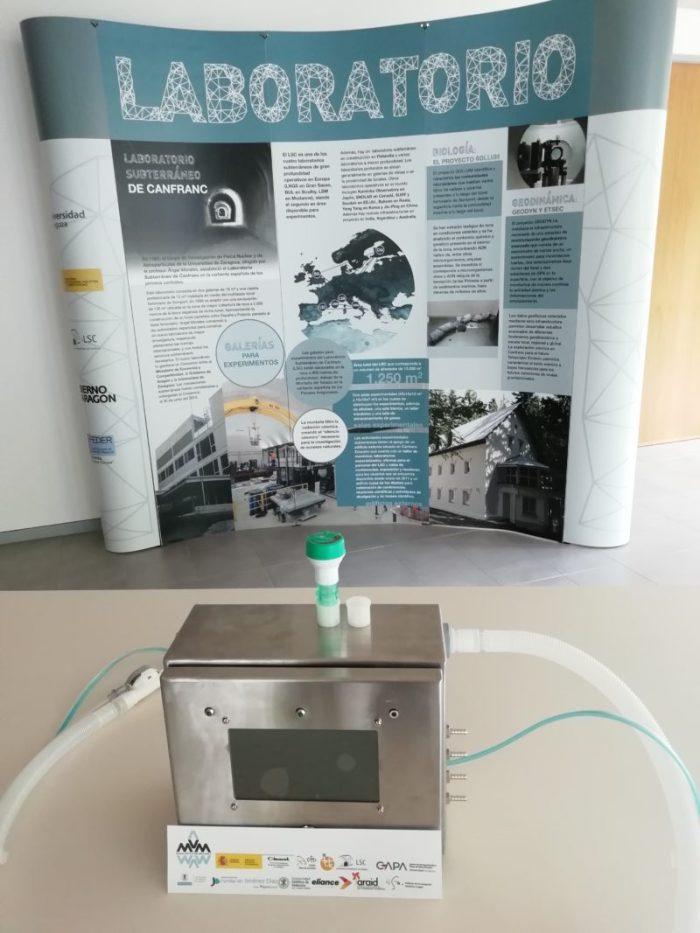 LSC. Ventilador MVM construido en le Laboratorio Subterráneo de Canfranc. (FOTO: LSC)