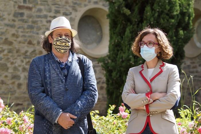 FICS. Luis Calvo y Belén Luque, durante la presentación del Festival en el Camino de Santiago. (FOTO: Rebeca Ruiz)