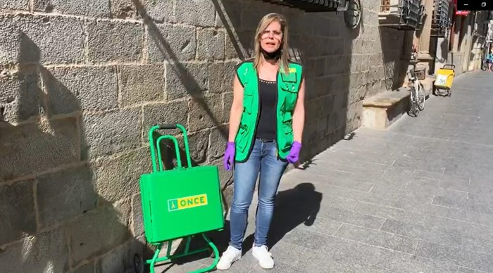 JACA. Patricia da Conceicao, vendedora de la ONCE.