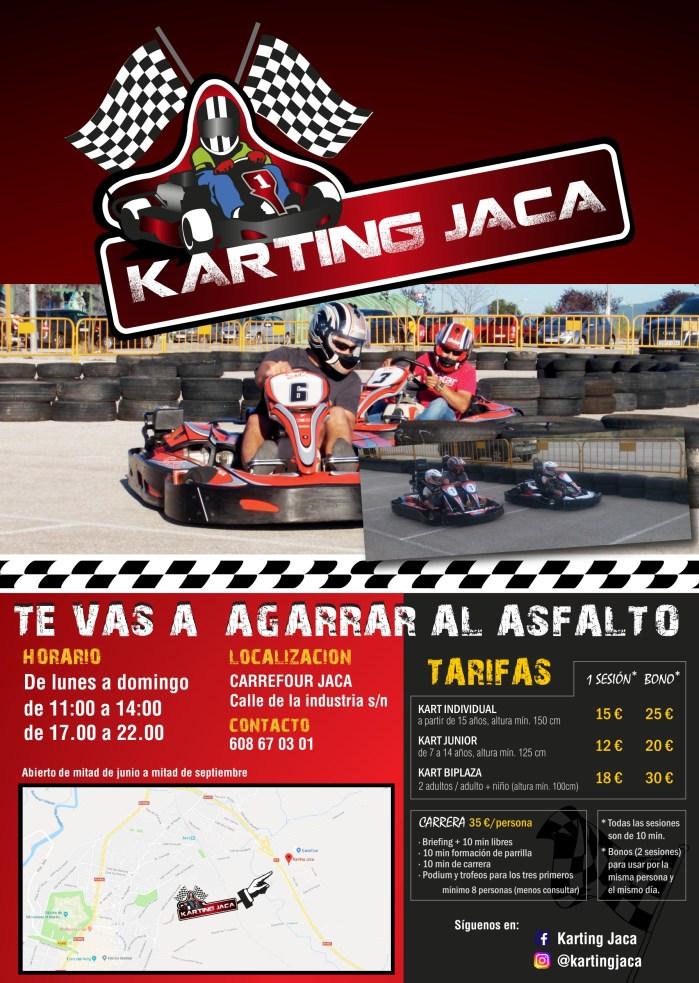 TEMPORADA. Tarifas oficiales de Karting Jaca para este verano.
