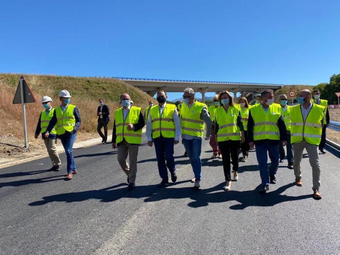 INFRAESTRUCTURA. Nuevo ramal de acceso a Ascara. (FOTO: Delegación del Gobierno en Aragón)